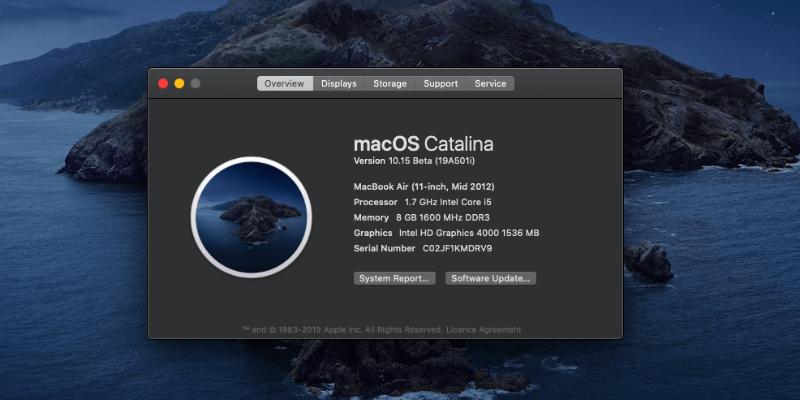Update Macbook Pro Catalina